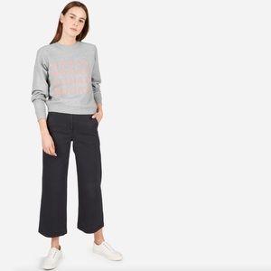 "EVERLANE ""Human Woman"" Gray Sweatshirt Small"
